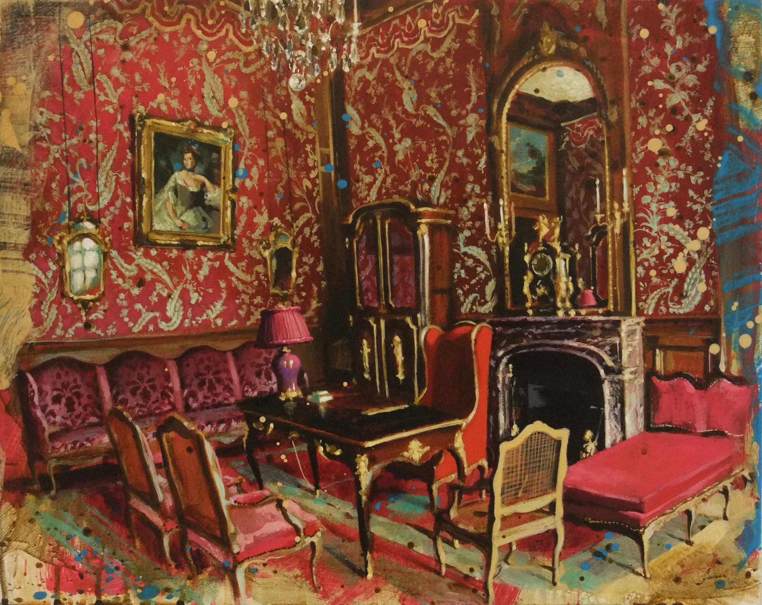 Le Salon Rouge, Château de Champs-sur-Marne | Galerie de ...